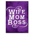 Plakat metalowy Wife mom boss