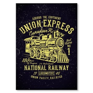 Poster metalowy Union express