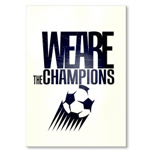 Poster metalowy We are the champions Prezent