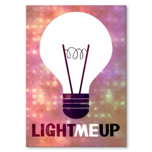 Poster metalowy Light me up