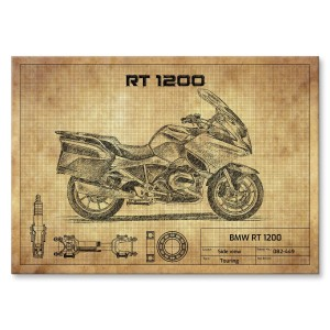 Plakat metalowy BMW RT 1200 Prezent