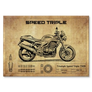 Plakat metalowy Triumph Speed Triple T509 Prezent