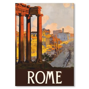 Poster metal Rome Rzym gift