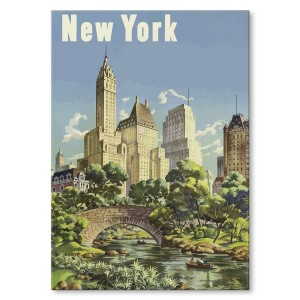 Poster metal New York gift