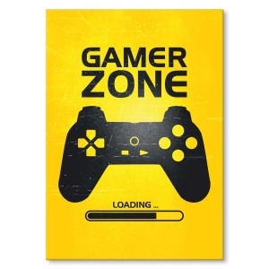 Plakat metalowy Gamer zone Prezent