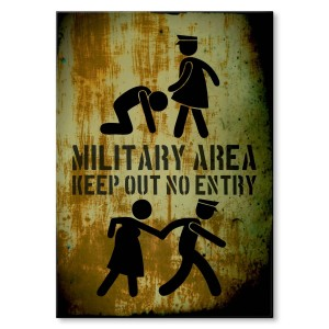 Poster metalowy Military area