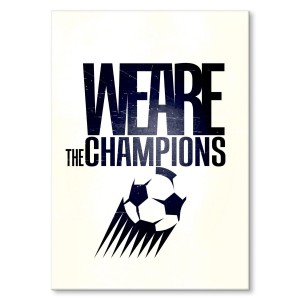 Plakat metalowy We are the champions