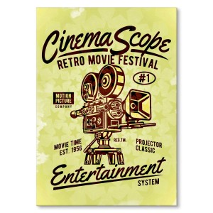 Metal poster Cinema Scope