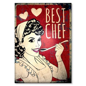 Metal poster Best chef