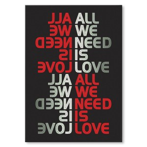 Poster metalowy All we need is love