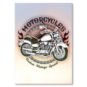 Poster metalowy vintage motorcycles