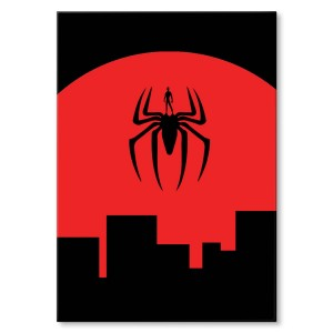 Metal poster Spider city