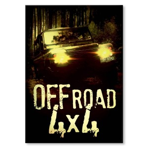 Poster metalowy Off road 4x4
