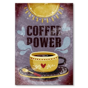 Poster metalowy Coffee power