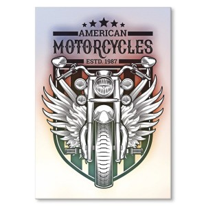 Poster metalowy American motorcycles