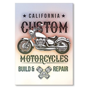 Poster metalowy California custom motorcycles