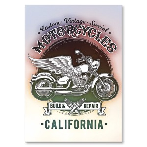 Metal poster California motorcycles