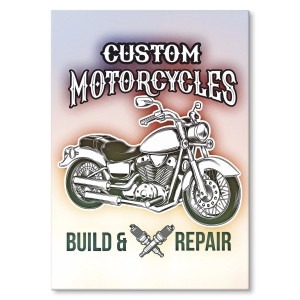 Metal poster Custom motorcycles