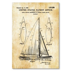Poster metalowy Boat Patent