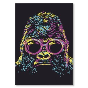 Poster metalowy Gorilla abstract