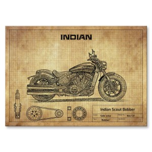 Poster metalowy Indian Scout Bobber