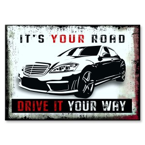 Poster metalowy IT IS YOUR ROAD MERC
