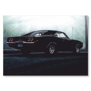 Poster metalowy 1968 DODGE CHARGER