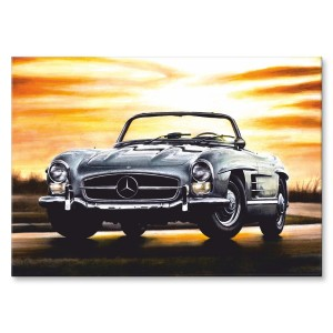 Poster metalowy 1960 MERCEDES-BENZ 300 SL ROADSTER