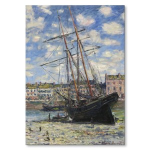 Poster metalowy Boat lying Monet