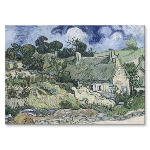 Poster metalowy Cottages Van Gogh