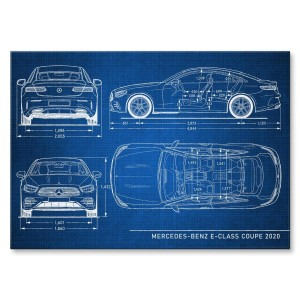 Poster metalowy Mercedes E Coupe 2020