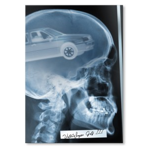 Poster metalowy Rentgen VW Golf III