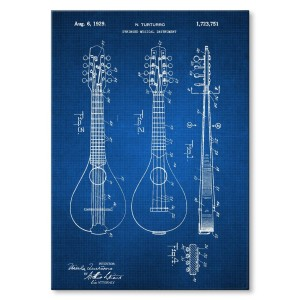 Poster metalowy Stringed Instrument Tech