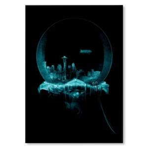 Poster metalowy Jellyfish 2