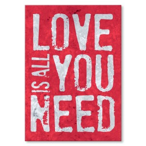 Poster metalowy Love is all you need