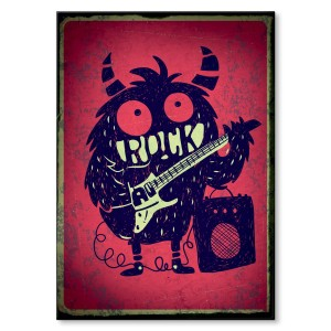 Poster metalowy Rock monster