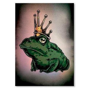 Poster metalowy Kiss the frog