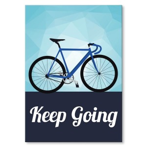Poster metalowy Keep going
