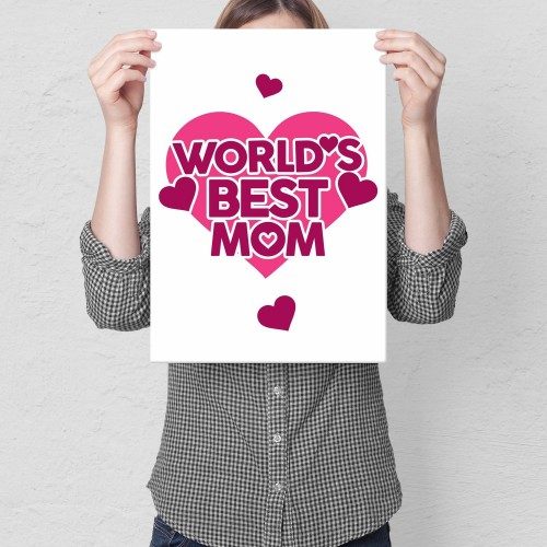 Plakat metalowy Best mom