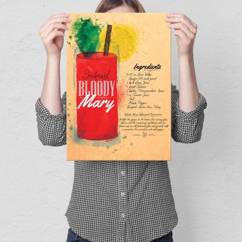 Plakat metalowy Drink Krwawa Mary